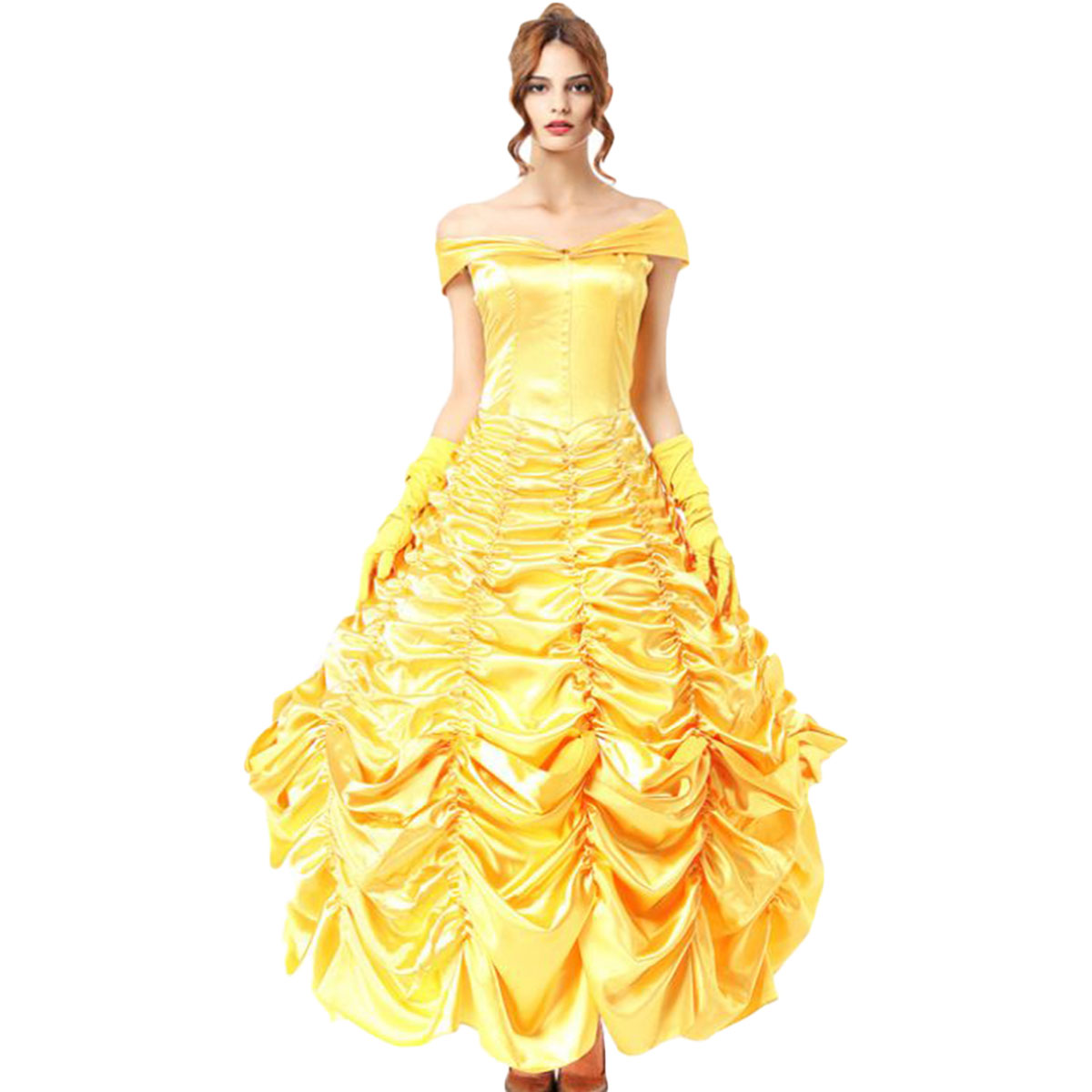 ラ・ ベル コスプレ 衣装 コスチューム ドレス 美女と野獣 大人