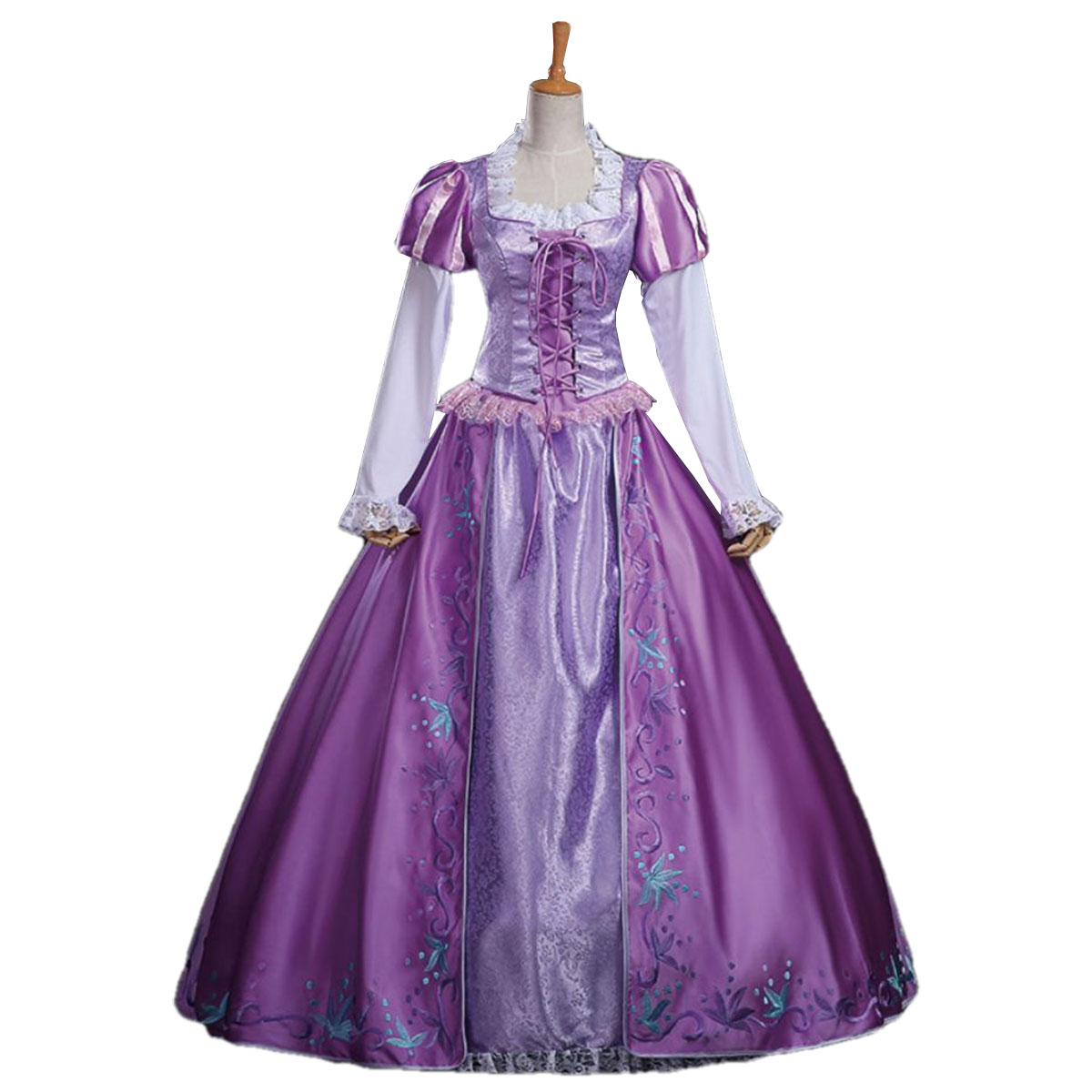 ラプンツェル ドレス 大人 衣装 コスプレ プリンセス コスチューム レディース ハロウィン コス 衣装 仮装 成人