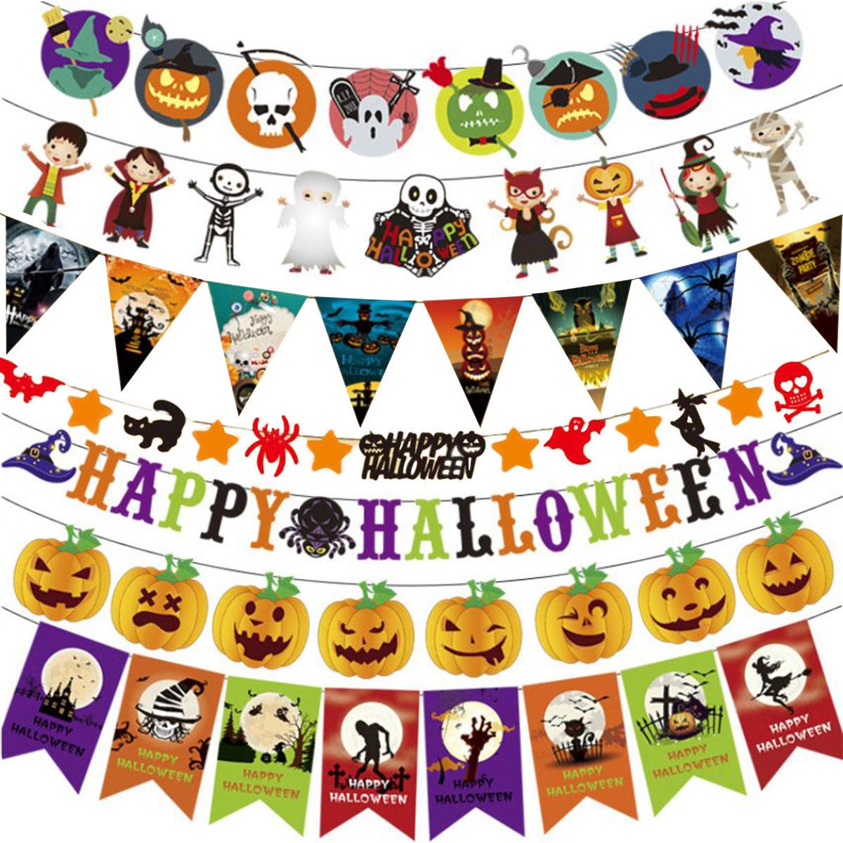 期間限定の激安セール 送料無料(一部地域を除く) ハロウィン 装飾 ガーランド 壁 飾り パーティー デコレーション かぼちゃ 飾り付け ハロウィングッズ