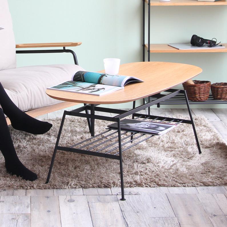 【送料無料】anthem(アンセム)ant-2734na ナチュラル Natural【片付け】【収納】【ミッドセンチュリー】【アジャストテーブル】【ant-2734】【一人暮らし】【デザイン家具】| テーブル つくえ 机 インテリア 木製 コーヒーテーブル ローテーブル ロータイプ