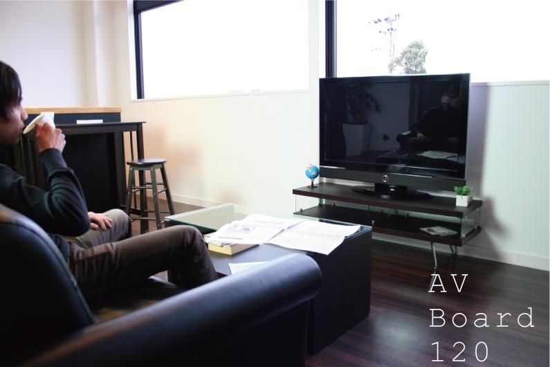 【最大1000円OFFクーポン発行中】 幅1200mm AVボード ガラス テレビボード シンプル テレビ台