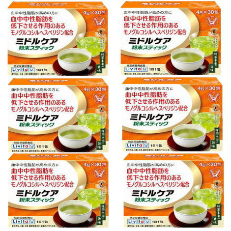 【6個セット】ミドルケア粉末スティック 4g×30包×6 【特定保健用食品】 大正製薬