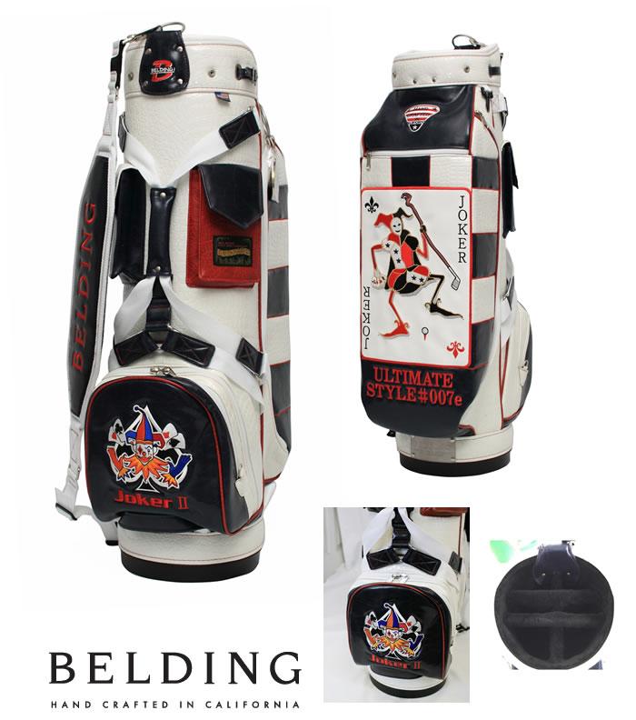 ●ベルディング キャディバッグBELDING FAT-B JOKER 2/ファットビー ジョーカー2(9.5インチ)マリーン/ホワイト/レッドHBCB-950053