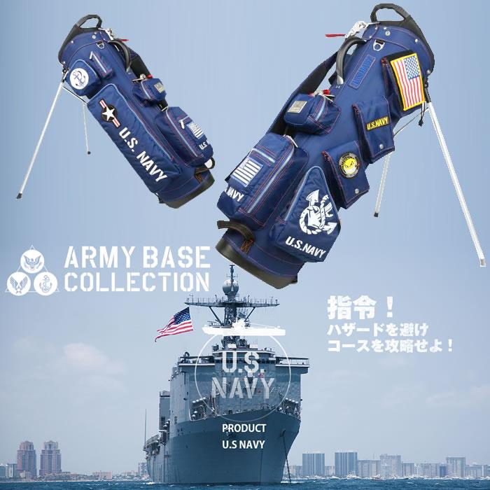 ●アーミーベースコレクション キャディバッグ(スタンド)スタンドバッグ US海軍マリーンテイスト ABC-018SB