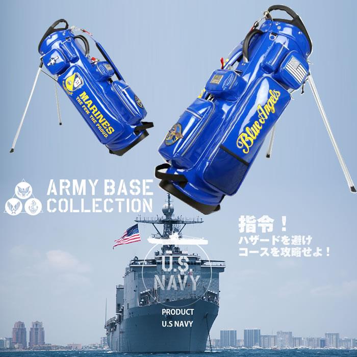 ●アーミーベースコレクション キャディバッグ(スタンド)U.S.NAVY[数量限定]スタンドバッグ ABC-020SB