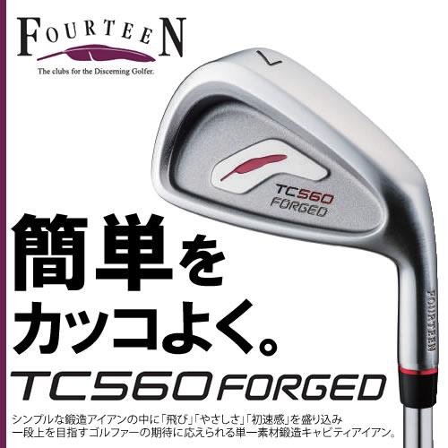●フォーティーン TC560 FORGED アイアンN.S.PRO 950GH HT スチール 6本セット(#5~P)