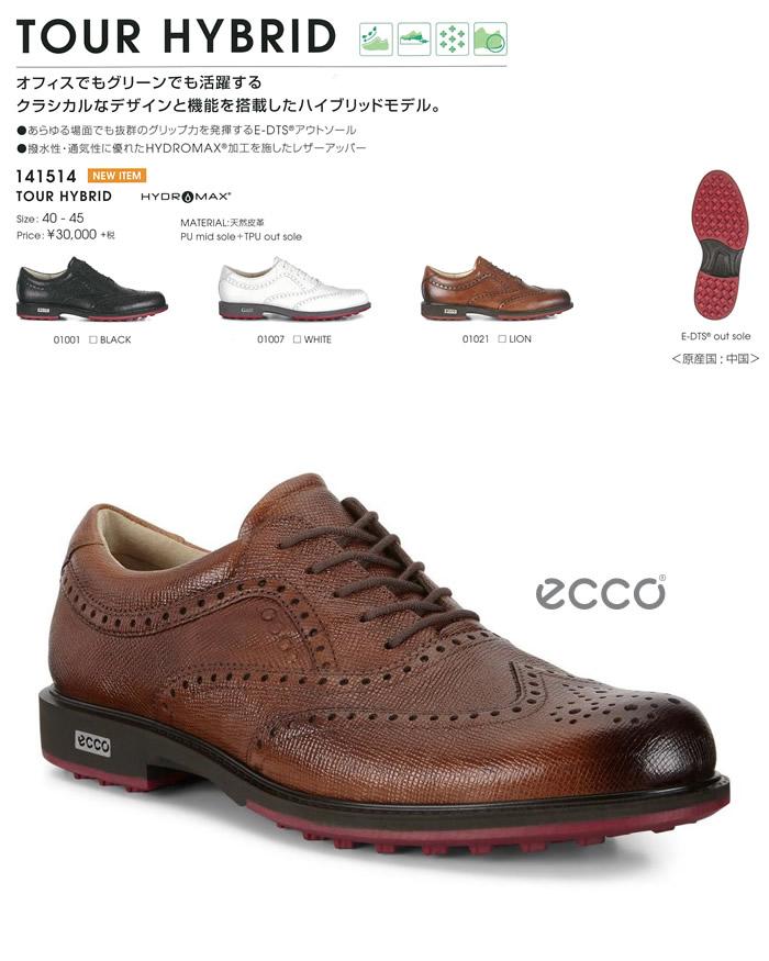 ●ECCO/エコー ゴルフシューズ【メンズ】TOUR HYBRID 141514
