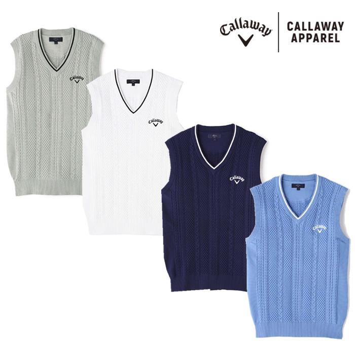 ●2020 S/S Callaway/キャロウェイ ウェア【メンズ】Vネックニット 241-0119500