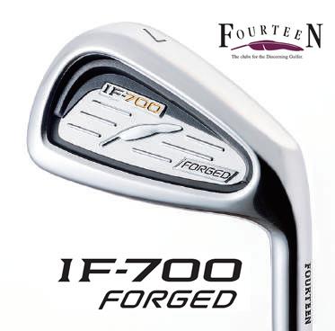 ●フォーティーン IF-700 FORGED アイアンFS-90i スチールシャフト5本セット(#6~PW)