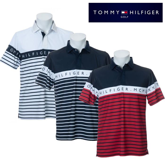 ●2020 TOMMY HILFGER 春夏ウェア【メンズ】トミーヒルフィガーBODER 半袖ポロシャツ THMA023