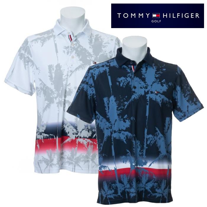 ●2020 TOMMY HILFGER 春夏ウェア【メンズ】トミーヒルフィガーPALM TREE PRINT 半袖ポロシャツ THMA032