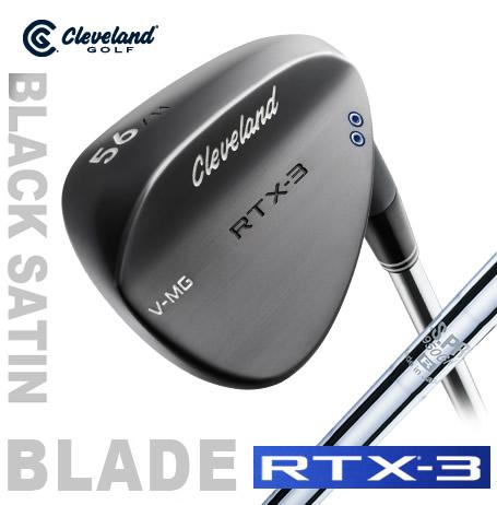 ●クリーブランドゴルフRTX-3 BLADE ブラックサテン ウェッジ[日本仕様]N.S.PRO 950GH スチールシャフト