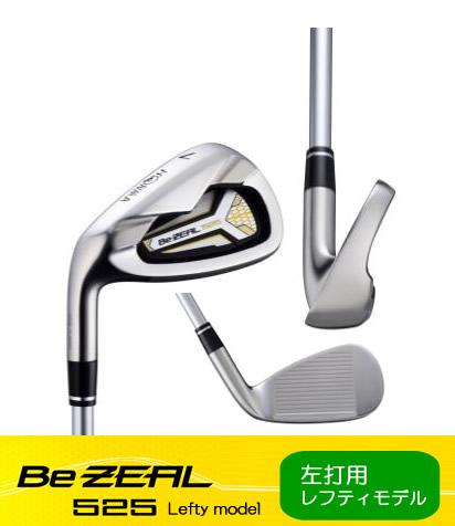 【左打用・レフティモデル】ホンマゴルフBe ZEAL 525 Lefty model IRONビジール 525 レフティ モデル アイアンVIZARD for Be ZEAL カーボン 単品