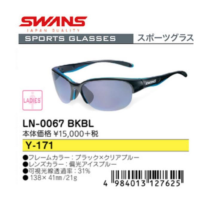 ●SWANS/スワンズ サングラス[LADIES] LN-0067 BKBL Y-171