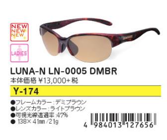 ●SWANS/スワンズ サングラス【レディース】LUNA-N LN-0005 DMBR Y-174
