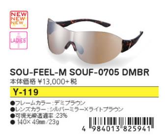 ●SWANS/スワンズ サングラス【レディース】SOU-FEEL-M SOUF-0705 DMBR Y-119