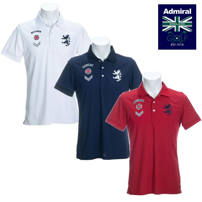 ●2020 春夏 Admiral/アドミラルウェア【メンズ】ワッペン ポロシャツ ADMA024