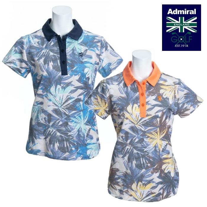 ●2020 春夏 Admiral/アドミラルウェア【レディース】ボタニカルプリント ポロシャツ ADLA042