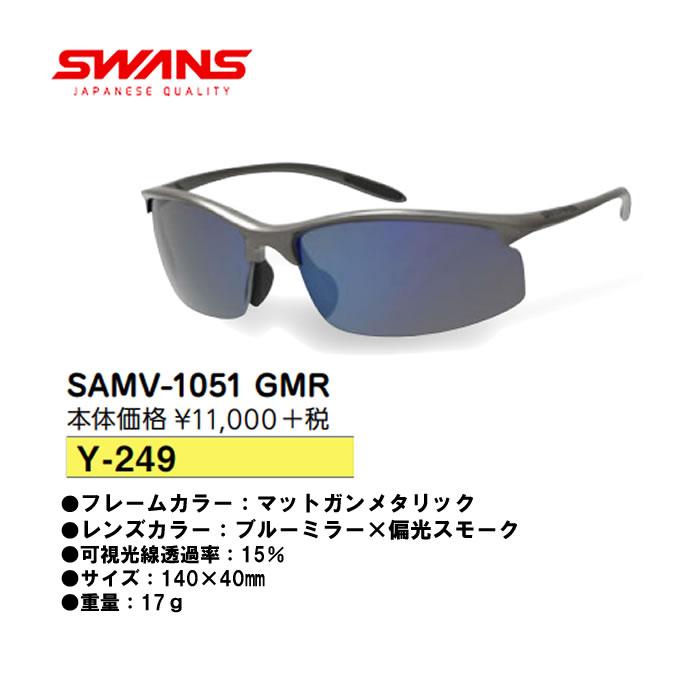 ●SWANS/スワンズ サングラスSAMV-1051 GMR Y-249