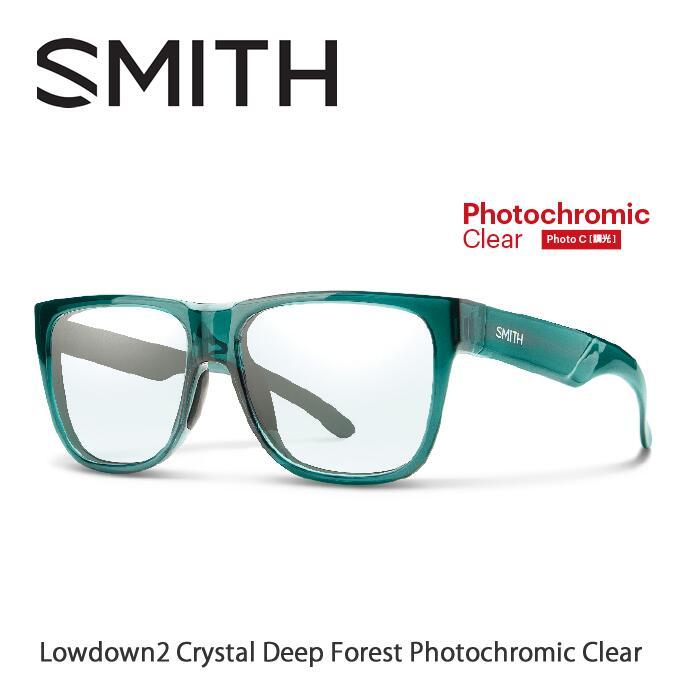 ●SMITH/スミス サングラスLowdown 2 Crystal Deep Forest(Photochromic Clear)[調光]