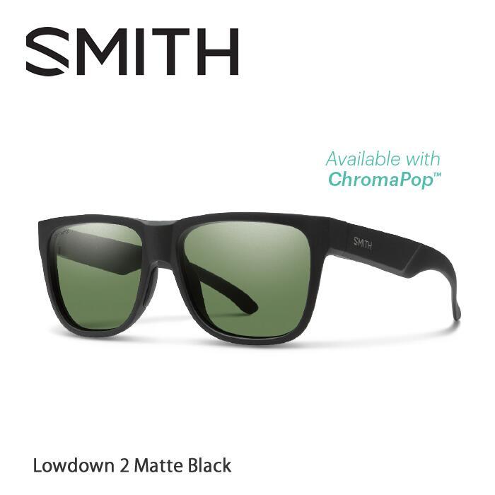 ●SMITH/スミス サングラスLowdown 2 Matte Black/Gray Green(ChromaPop Polarized)[偏光]