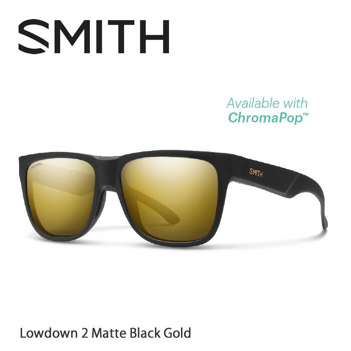 ●SMITH/スミス サングラスLowdown 2 Matte Black Gold/Black Gold(ChromaPop Polarized)[偏光]