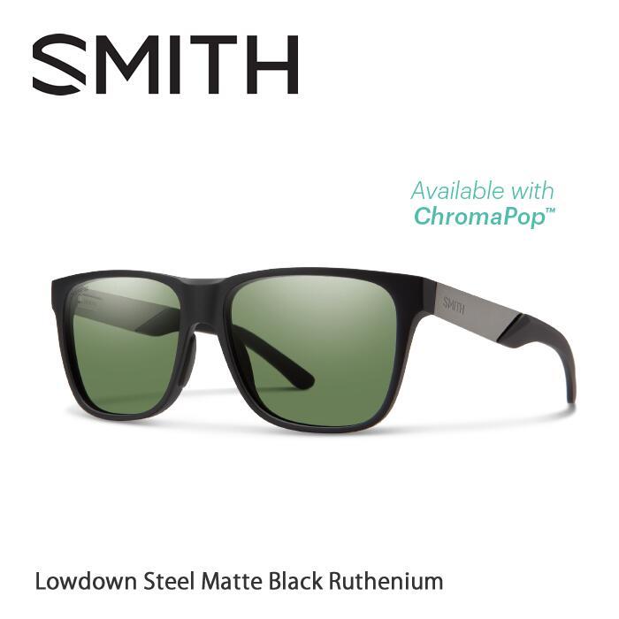 ●SMITH/スミス サングラスLowdown Steel Matte Black Ruthenium/Gray Green(ChromaPop Polarized)[偏光]