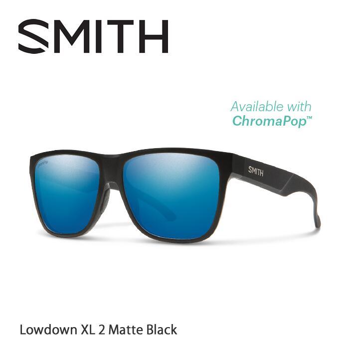 ●SMITH/スミス サングラスLowdown XL2 Matte Black/Blue Mirror(ChromaPop Polarized)[偏光]