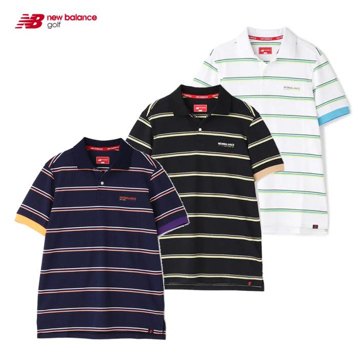 買物 2021 S new balance ニューバランス ウェア メンズ ポロシャツ フェイドネオンボーダー 012-1160010 お気に入り 接触冷感 半袖