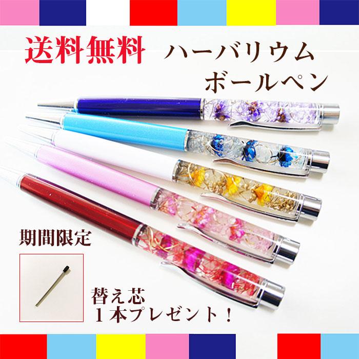 ハーバリウムボールペン 母の日プレゼント ギフト包装  ハーバリウムボールペン 10種類 あじさいやかすみ草のハーバリウム hz087
