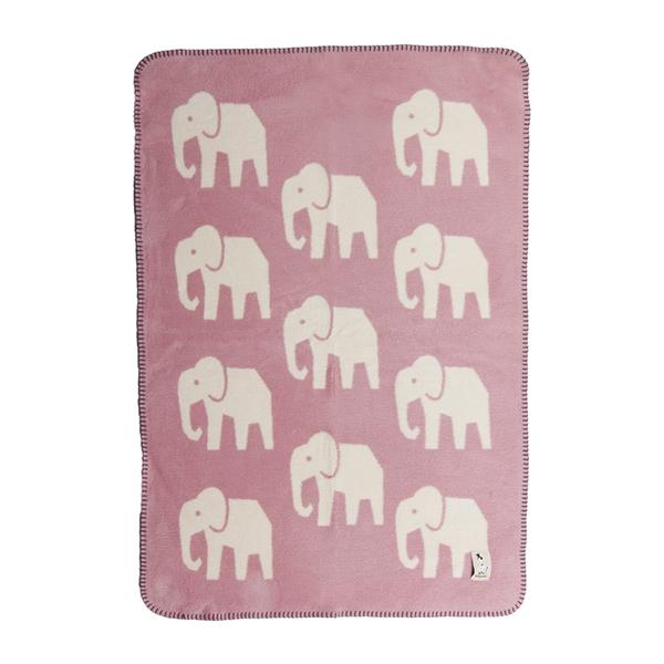fabulous goose (ファブラスグース) Baby elephant ブランケット75x100 ピンク/オフホワイト