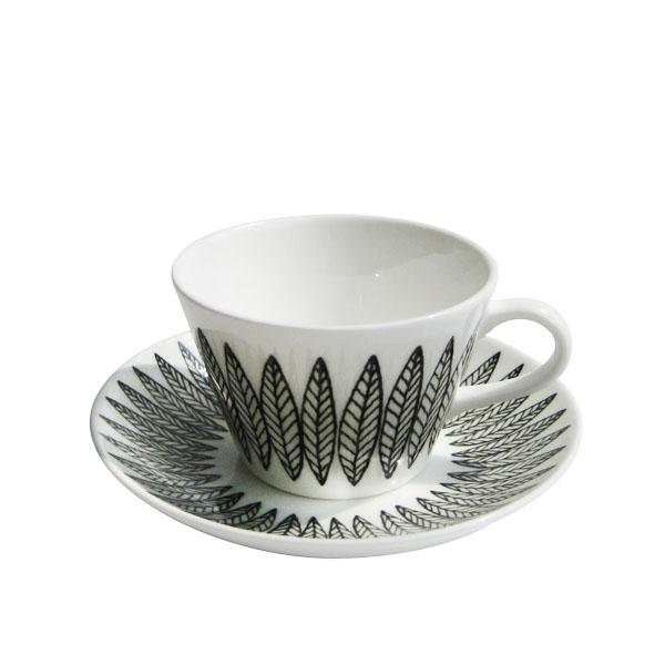 GUSTAFSBERG(グスタフスベリ) SALIX サリックス BLACKコーヒーカップ&ソーサー / 北欧食器 復刻版 送料無料:KOTTE