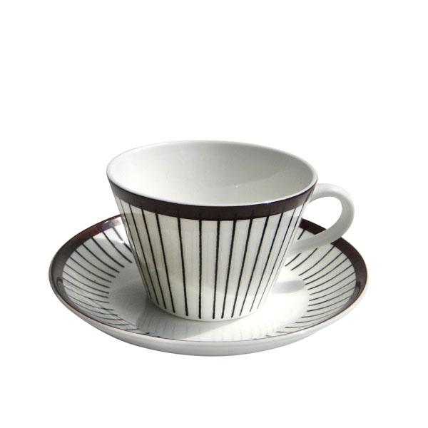 GUSTAFSBERG(グスタフスベリ) RIBB リブ コーヒーカップ&ソーサー/ 北欧食器 復刻版 送料無料