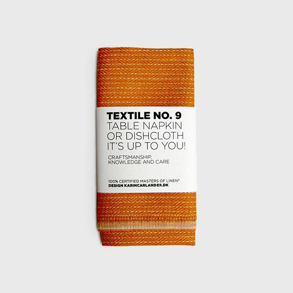 素材感のよいリネンのディッシュクロス 北欧デザイン 亜麻100% 麻ふきん 北欧 インテリア 雑貨 TEXTILE No.9 50x25 期間限定で特別価格 天然素材 まとめ買い特価 オレンジ カリンカーランダー ディッシュクロス 麻100% zigzag キッチンタオル