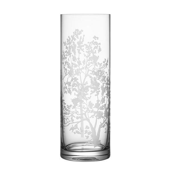 【Orrefors】オレフォス ORGANIC フラワーベース シリンダー / 花瓶 北欧デザイン シンプル ガラス 透明 筒形 縦長
