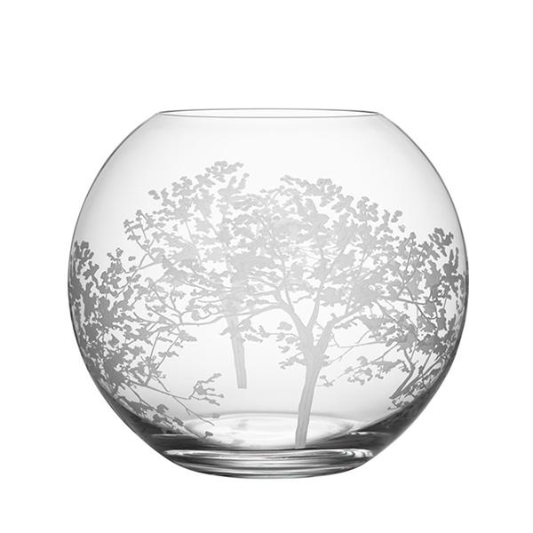 【Orrefors】オレフォス ORGANIC フラワーベース ラウンドL / 花瓶 北欧デザイン シンプル ガラス 透明 丸型
