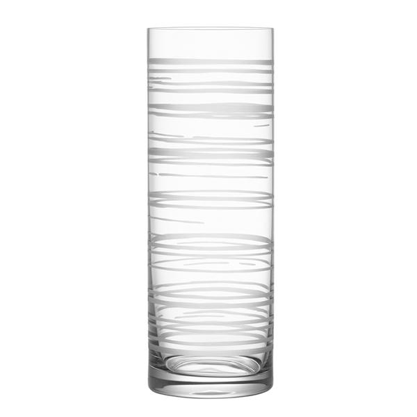 【Orrefors】オレフォス GRAPHIC フラワーベース シリンダー/ 花瓶 北欧デザイン シンプル ガラス 透明 筒形 縦長