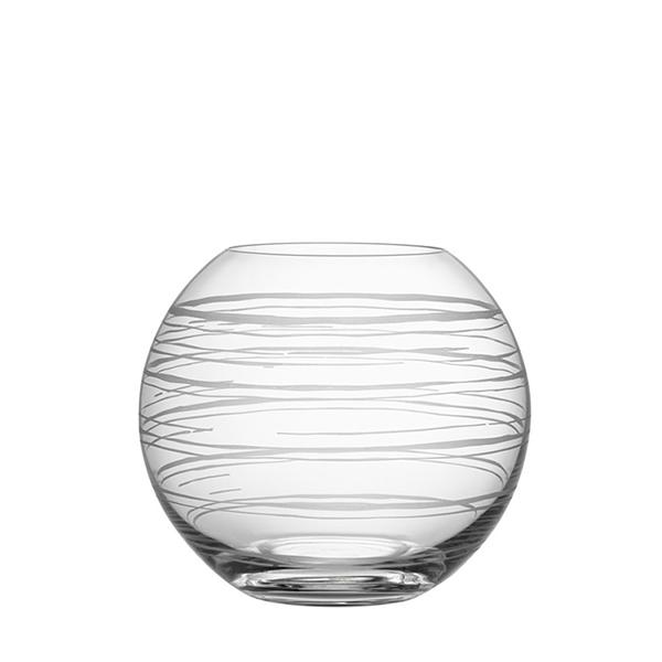 【Orrefors】オレフォス GRAPHIC フラワーベース ラウンドS /花瓶 北欧デザイン シンプル ガラス 透明 丸型