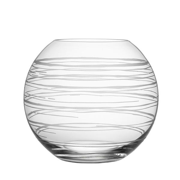 【Orrefors】オレフォス GRAPHIC フラワーベース ラウンドL / 花瓶 北欧デザイン シンプル ガラス 透明 丸型