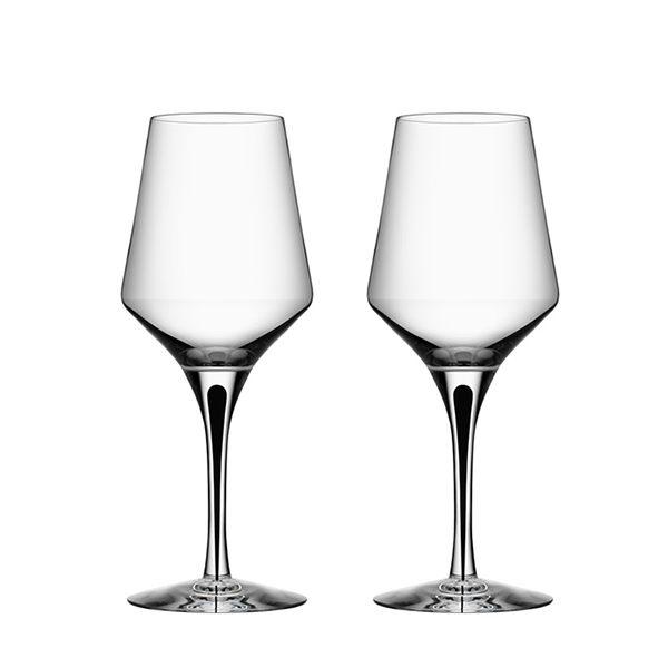 【Orrefors】オレフォス METROPOL ワイングラスS 2Pセット/ 北欧デザイン シンプル 上質 ギフト 送料無料