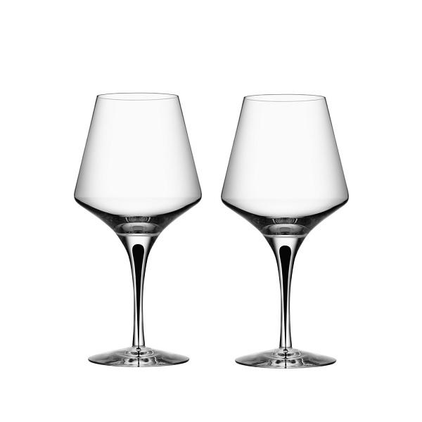 【Orrefors】オレフォス METROPOL ワイングラスL 2Pセット/ 北欧デザイン シンプル 上質 ギフト 送料無料
