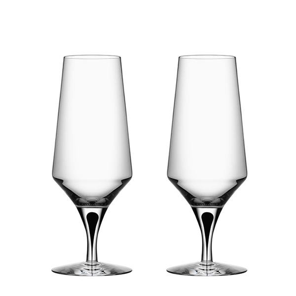 【Orrefors】オレフォス METROPOL ビールグラス2Pセット/ 北欧デザイン シンプル 上質 ギフト 送料無料