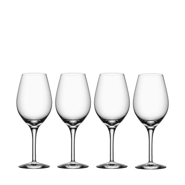 【Orrefors】オレフォス MORE ワイングラス4Pセット / シンプルなグラス 赤ワイングラス 白ワイングラス 普段使い おもてなし 王室御用達