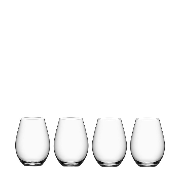 【Orrefors】オレフォス MORE タンブラー4Pセット / シンプルなグラス / 北欧ブランド 普段使い 透明 ガラス 万能グラス