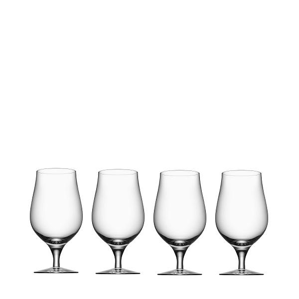 【Orrefors】オレフォス BEER テイスター4Pセット/ ビールグラス 北欧デザイン シンプル 上質 ギフト 送料無料