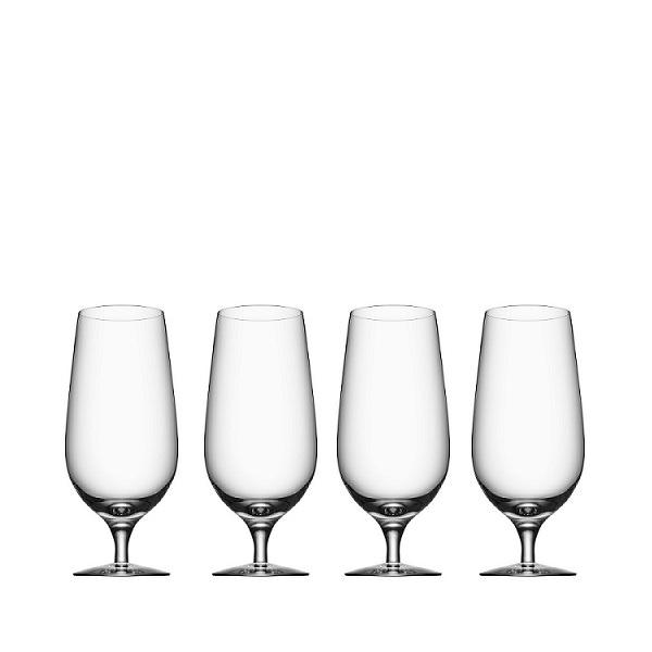 【Orrefors】オレフォス BEER ラガー4Pセット/ ビールグラス 北欧デザイン シンプル 上質 ギフト 送料無料
