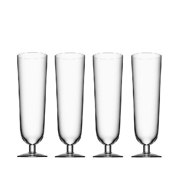 【Orrefors】オレフォス BEER ピルスナー4Pセット/ ビールグラス 北欧デザイン シンプル 上質 ギフト 送料無料