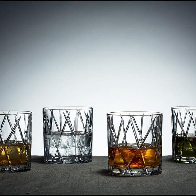 【Orrefors】オレフォス CITY オールドファッショングラス 4Pセット / ウイスキーグラス タンブラー 北欧グラス シンプル ギフト