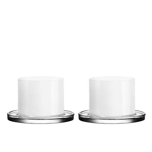 【Orrefors】オレフォス KARL LAGERFELD (カール ラガーフェルド)タンブラー ホワイト ペアセット/ 北欧デザイン シンプル 上質 ギフト 送料無料
