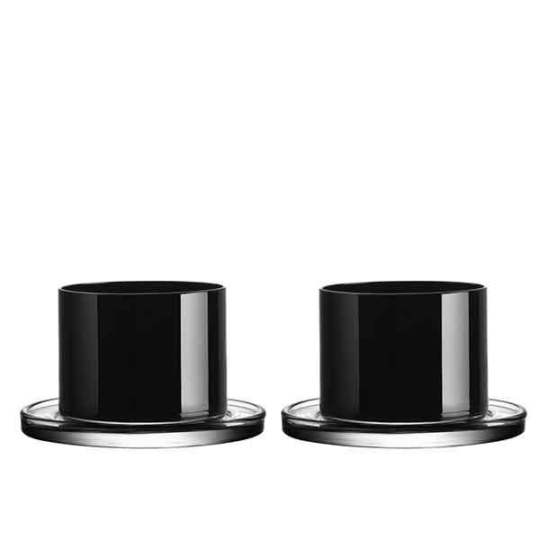 【Orrefors】オレフォス KARL LAGERFELD (カール ラガーフェルド)タンブラー ブラック ペアセット/ 北欧デザイン シンプル 上質 ギフト 送料無料